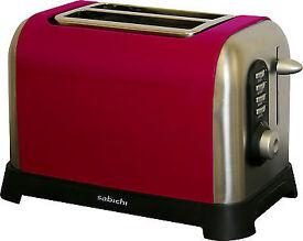 Sabichi Manhattan Two Slice Red Toaster