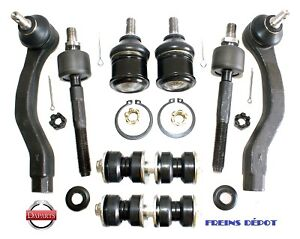 link kit ball joint tie rod control arm table freins brake pad
