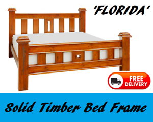 BRAND NEW Queen Size Chunky Timber Bed Frame FREE DELIVERY New Farm Brisbane North East Preview