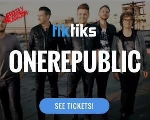 OneRepublic Concert Tickets live at the Bell Centre August 11th