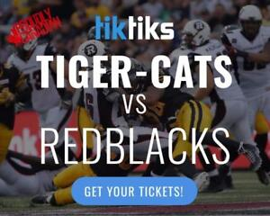 Hamilton Tiger-Cats vs Ottawa Redblacks tickets! Buy in CAD$! Lots of options. Instant delivery. Mobile Entry available
