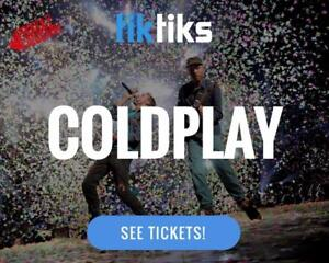 Coldplay Concert Tickets Rogers Sept 26th and 27th - Get our APP! Buy in CAD$ from a 5 star reviewed company. NO FEES!