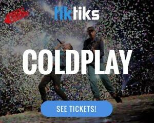 Coldplay Concert Tickets live at Rogers Place Sept 26th and 27th - Buy in CAD$ from a 5 star reviewed company.