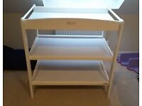Lovely John Lewis White Wooden Changing Table
