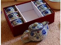 6 piece Chinese design Tea set (unused)