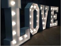 LOVE Letter Hire, MR & MRS Hire, Number Hire from £80