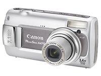 "Canon PowerShot A470 Digital Camera - Grey (7.1MP, 3.4xOptical Zoom) 2.5"" LCD"