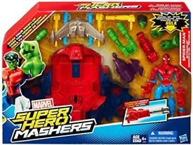 Marvel Super Hero Mashers Spider Man Sky Crawler Role Play Set