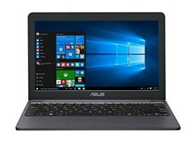 Never used with warranty, ASUS laptop/netbook/notebook, E203NA 11.6 Inch Intel Celeron 1.1GHz