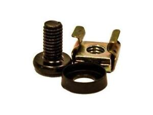 M6 CAGE NUTS AND BOLTS FASTENS EQUIPMENT TO SQUARE HOLE RACK MOUNT RAILS, RACKS POWER SUPPLY, RACKS SHELVING, RACK SWITC