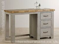GREY PURE OAK, TABLE, Cupboard and draws