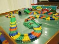 Flexible, interchangeable build your own Car Racing track