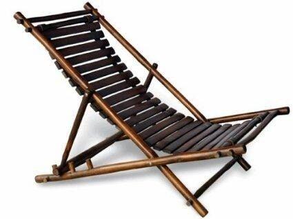 100% Eco friendly Bamboo chair with 3 reclining position
