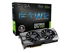 2x EVGA GeForce GTX 1080 FTW2 Gaming 8GB