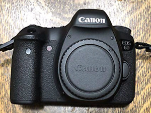 Canon 6D body only 5k shutter count