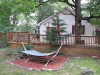 Christmas/New Year's cottage rental with private hot tub
