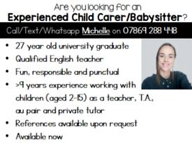 Nanny / Babysitter / Child Carer