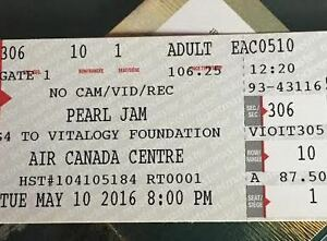 Pearl Jam - May 10 Sold Out Show in Toronto FACE VALUE!