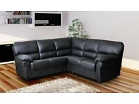New Candy corner sofa black or brown colour delivery available