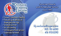 Exclusive Carpet/Upholstery Cleaning 416-910-0590