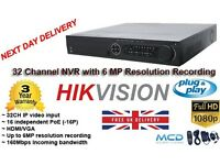 32 Channel NVR 6 mp resolution recording