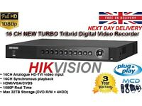 16 CHANNEL NEW TURBO TRIBRID DIGITAL VIDEO RECORDER - HIKVISION