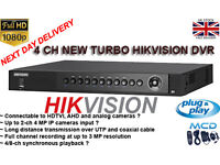 4 Channel DVR NEW TURBO HD 1080p 3.0 mp HIKVISION
