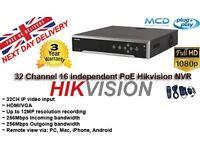 Hikvision 32 Channel NVR Digital 16 Independent POE