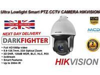 2 Mega Pixel DArk Fighter IR PTZ CCTV ULTRA LOW SMART CAMERA HIKVision