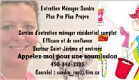 Entretien ménager secteur Saint-Sauveur à Deux-Montagnes