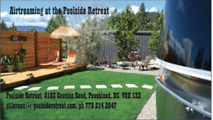 Airstream Glamping at Poolside Retreat, Peachland