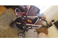 icandy buggy double or single for sale in dark grey/cherry