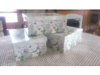 Storage boxes x 3 (Love, Live, Life)