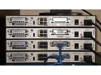 4 x Cisco 1841 routers, Plus 3 x wic-2t cards, in good working order