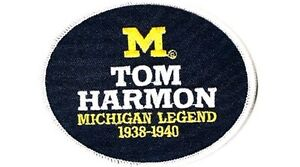 MICHIGAN LEGEND TOM HARMON PATCH NCAA COLLEGE FOOTBALL JERSEY PATCH