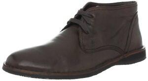 John Varvatos Men's Hipster Chukka Boot/Shoes (dark brown)