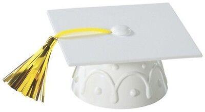 Graduation Cap Decoration Kit (White Graduation Cap Hat Cake Topper Kit Cupcake Candy Cookie)