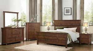 Solid wood queen bedroom set, All items in pic included, NEW!!!!