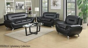 BRAND NEW LEATHER SOFA SET (COUCH+LOVE SEAT) ON SALE