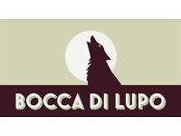 Bocca Di Lupo ITALIAN Restaurant : Bar Manager needed