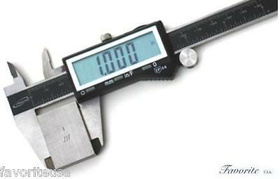 6 Digital Electronic Caliper Gauge Large Display By Igaging- Inch Fractional