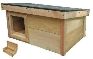 outdoor Cat Dog House puppy kitten Feral Pet kennel WARM shelter cedar MEDIUM
