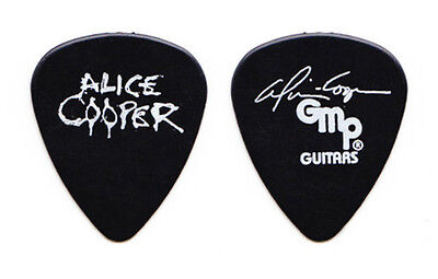Alice Cooper Signature Black Guitar Pick - 1997 Rock 'n' Roll Carnival Tour