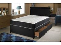 Super Ortho Luxury MEMORY FOAM DIVAN BED SET + MATTRESS + HEADBOARD SIZE 3FT 4FT6 Double 5FT King