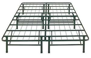 queen platform bed metal frame
