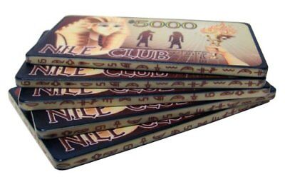 - Nile Club 40g High-Roller Ceramic Poker Plaques, $5,000, 5-pack