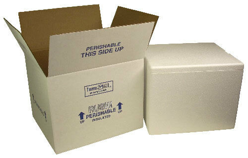 Insulated Styrofoam cooler shipping box coral ice refrigerated cold cool