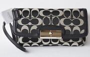 Coach Large Wristlet White