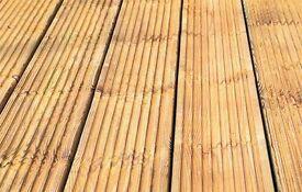 Wooden timber decking