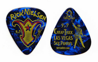 Cheap Trick Rick Nielsen Blue Guitar Pick Vegas - 2009 Tour